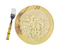 Risotto Rice Cheese Sauce Fork Top View Royalty Free Stock Photo