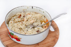 Risotto with rice and meat Stock Photography