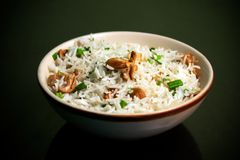 Risotto of Rice and mushroom Royalty Free Stock Photos