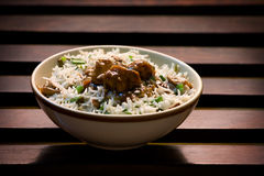 Risotto of Rice and mushroom stock photo