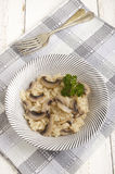 Risotto rice with organic mushroom Stock Photos