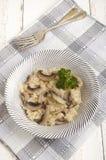 Risotto rice with organic mushroom Stock Photos