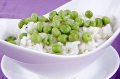 Risotto rice with organic pea Royalty Free Stock Image