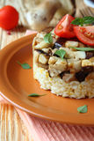 Risotto with roasted porcini mushrooms Stock Images