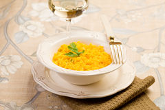Risotto with saffron Stock Photos