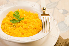Risotto with saffron Stock Image