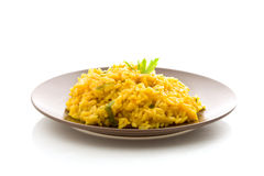 Risotto with Saffron Isolated Royalty Free Stock Image