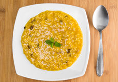Risotto with saffron and mushrooms Stock Images