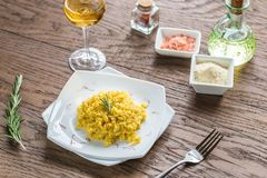 Risotto with saffron Royalty Free Stock Image