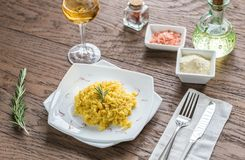 Risotto with saffron Stock Photography