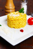 Risotto with saffron, risotto alla milanese Royalty Free Stock Photos