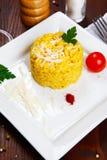 Risotto with saffron, risotto alla milanese Royalty Free Stock Photo