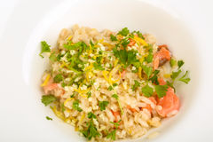 Risotto with salmon Stock Photography