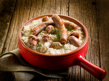 Risotto with sausage  Stock Photography