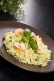 Risotto with seafood. And rice Stock Photography