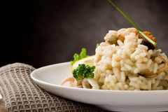 Risotto with Seafood Royalty Free Stock Photos
