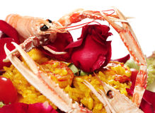 Risotto with seafood Royalty Free Stock Images