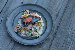 Risotto with seafood. Stock Photography