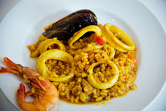 Risotto with seafood . Royalty Free Stock Image
