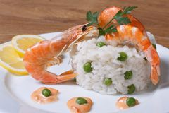 Risotto with seafood Stock Images