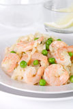 Risotto with shrimp Stock Photos