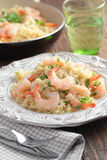 Risotto with shrimps Royalty Free Stock Photo