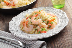Risotto with shrimps Stock Photos