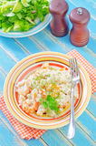 Risotto with shrimps Stock Photography