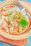 Risotto with shrimps Royalty Free Stock Photography