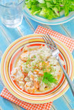 Risotto with shrimps Royalty Free Stock Images