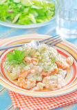 Risotto with shrimps Royalty Free Stock Photos