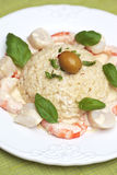 Risotto with shrimps and scallops Royalty Free Stock Photos