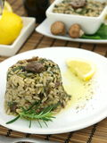 Risotto with spinach Stock Images