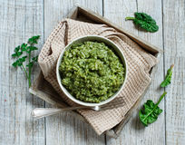 Risotto with spinach cream Stock Photography