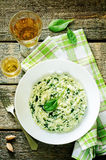 Risotto with spinach Stock Photo