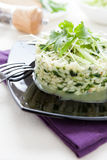 Risotto with spinach and herbs Stock Image