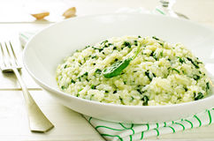 Risotto with spinach Royalty Free Stock Image