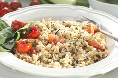 Risotto with spinach and tomatoes Royalty Free Stock Image