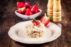 Risotto with Strawberries Stock Photos