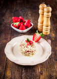 Risotto with Strawberries stock photography