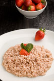 Risotto with Strawberries and Champagne Stock Photos