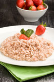 Risotto with Strawberries and Champagne Stock Images