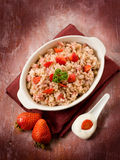 Risotto with strawberries and cream Royalty Free Stock Photography