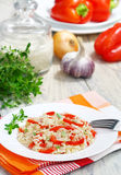 Risotto with sweet peppers Stock Images