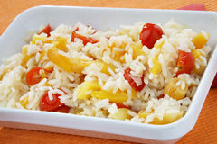 Risotto with tomato and apricot Royalty Free Stock Photography