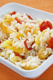 Risotto with tomato and apricot Stock Image