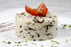Risotto with tomato royalty free stock photo