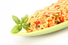 Risotto with tomatoes Royalty Free Stock Image
