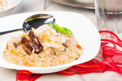 Chicken mushroom risotto Royalty Free Stock Photo