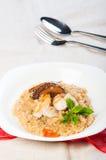 Chicken mushroom risotto Stock Photo